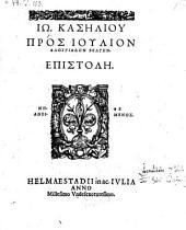 Pros Julion Phlugiaden Belgen epistole. -Helmaestadii, Acad. Julia 1599