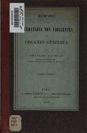 Mémoire sur les ulcérations non virulentes des organes génitaux