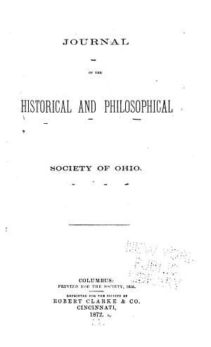 Journal of the Historical and Philosophical Society of Ohio