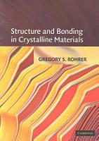 Structure and Bonding in Crystalline Materials PDF