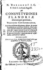 Ad consuetudines Flandriae aliarumque gentium tractatus controversiarum