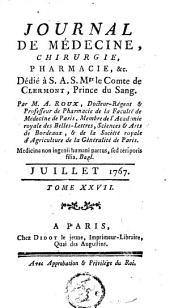 Journal de médecine, de chirurgie et de pharmacie: Volume 27