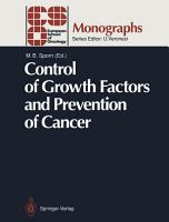 Control of Growth Factors and Prevention of Cancer PDF