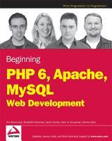 Beginning PHP6  Apache  MySQL Web Development PDF