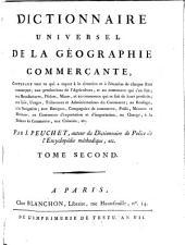 Dictionnaire universel de la géographie commerçante ...