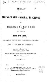 The Law of Offences and Criminal Procedure