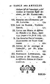 Bibliothèque des sciences, et des beaux arts: Volume35