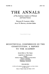The Annals of the American Academy of Political and Social Science PDF