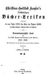 Vollständiges Bücher-Lexicon ... 1750-1910: Band 29