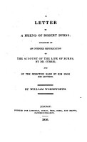 A Letter to a Friend of Robert Burns PDF