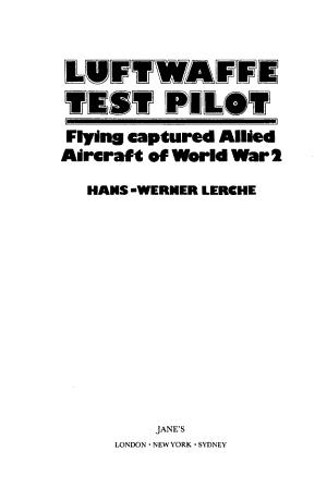 Luftwaffe Test Pilot