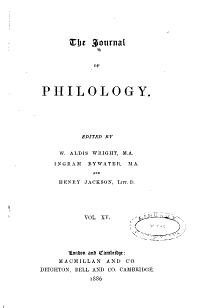 The Journal of Philology PDF