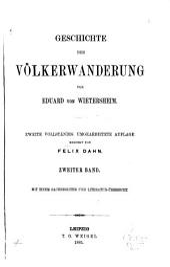 Geschichte der völkerwanderung: Band 2