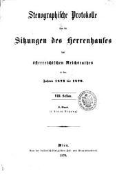Stenographische Protokolle des Herrenhauses des Reichsrathes: Band 1