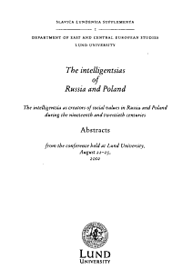 The Intelligentsias of Russia and Poland PDF