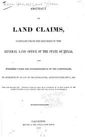 Abstract of land claims