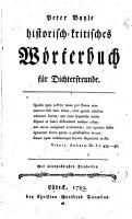 Historisch kritisches W  rterbuch f  r Dichterfreunde PDF