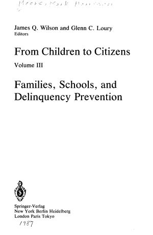 Families, Schools, and Delinquency Prevention
