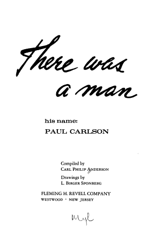 There was a Man PDF