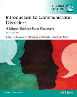 Introduction to Communication Disorders  A Lifespan Evidence Based Approach  Global Edition PDF