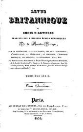 Revue britannique: ou Choix d'articles traduits des meilleurs écrits périodiques de la Grande-Bretagne