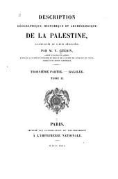 Description géographique, historique et archéologique de la Palestine: Partie3,Volume2