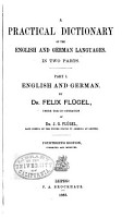A Practical Dictionary of the English and German Languages PDF