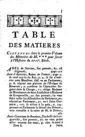 Mémoires de M. de ... pour servir à l'histoire du 17me Siècle: 1