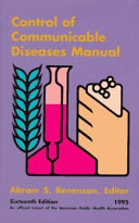 The Control of Communicable Diseases PDF