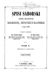 Spisi saborski Sabora Kraljevinah Dalmacije, Hrvatske i Slavonije