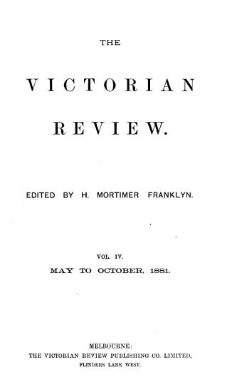 The Victorian Review PDF