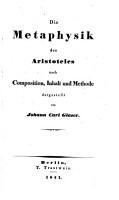 Die Metaphysik des Aristoteles nach Composition PDF