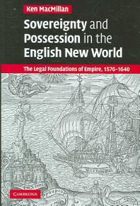 Sovereignty and Possession in the English New World PDF