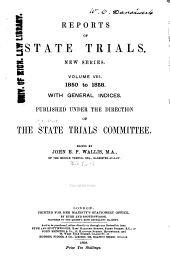 Reports of State Trials: New Series ... 1820 to [1858] ...