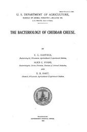 The Bacteriology of Cheddar Cheese: Volumes 147-157