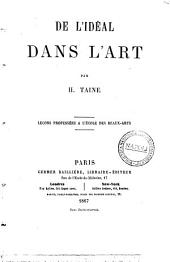 De l'ideal dans l'art par H. Taine