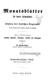 Monatsblätter für innere Zeitgeschichte: Band 36