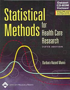 Statistical Methods for Health Care Research PDF
