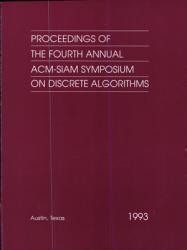 Proceedings Of The Fourth Annual Acm Siam Symposium On Discrete Algorithms Book PDF