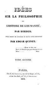 Idées sur la philosophie de l'histoire de l'humanité: Volume3