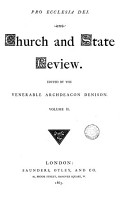 Church and State review  ed  by archdeacon Denison PDF