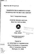 Transportation in America's Future: Transportation forecasts