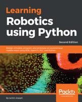 Learning Robotics using Python PDF