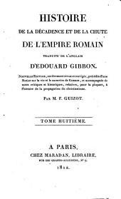 Histoire de la décadence et de la chûte de l'Empire romain: Volume8