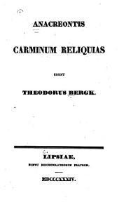 Carminum reliquias