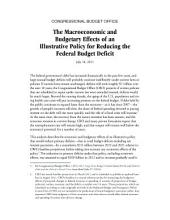 Macroeconomic and Budgetary Effects of an Illustrative Policy for Reducing the Federal Budget Deficit