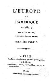 L ́ Europe et l ́Amérique en 1821