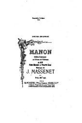 Manon: opéra-comique en 3 actes et 6 tableaux