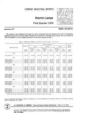 Current Industrial Reports: Electric lamps. 1975-1978. MQ-36B