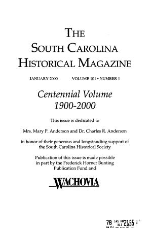 The South Carolina Historical Magazine PDF